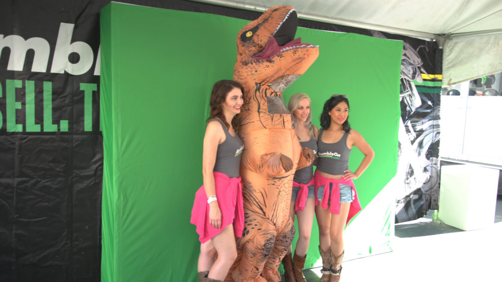 Experiential marketing with mobile activation tour with Rumble On's photo booth